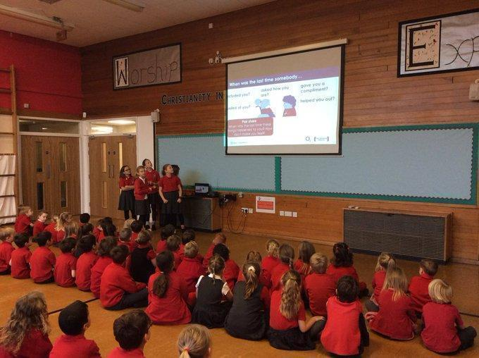 All year groups  lead their own assemblies