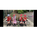 Year 2 with their suncream and hats encouraging Sun Safety!