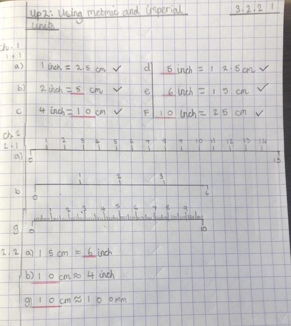 Year 5 have been converting measurements of length