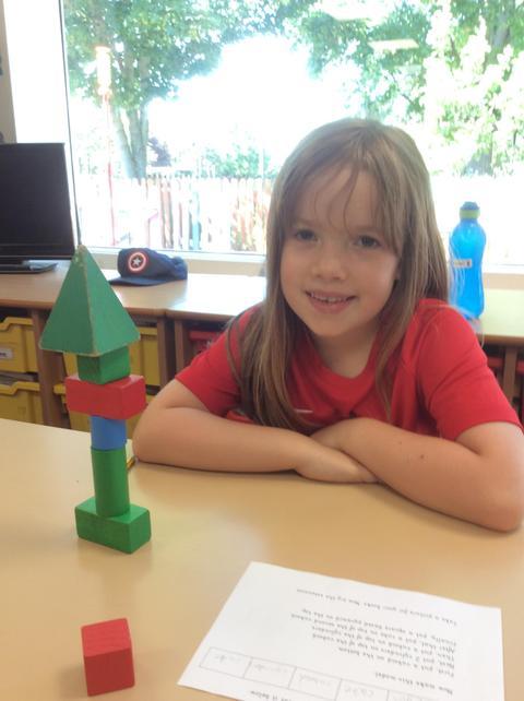 Recognising 3D shapes.