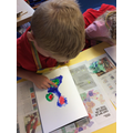 Y2 Monet 'Water-Lilies' finger painting
