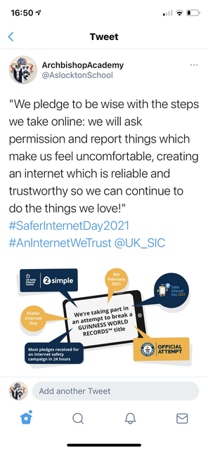 Year 5 pledge for creating a safer internet