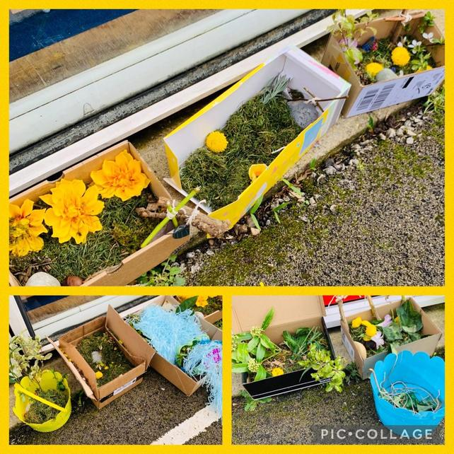 Year 1 Easter gardens created to celebrate new life and hope as told in the Easter story