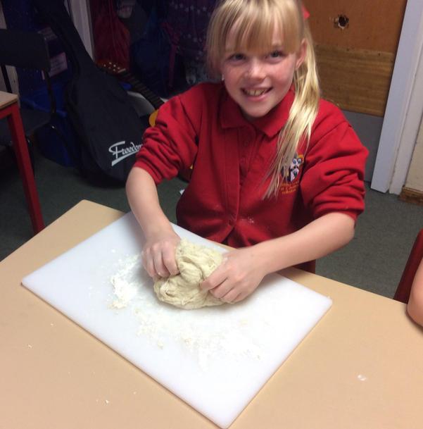 Comparing stone age bread to our bread!