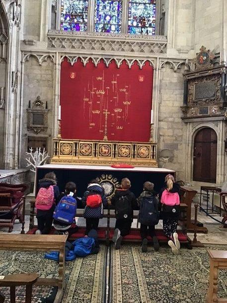 Y3 taking time to reflect @York Minster