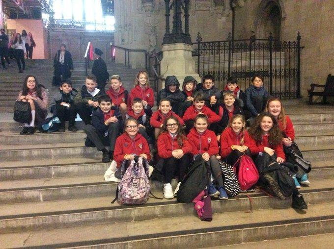 Everyone in school visits the Houses of Parliament