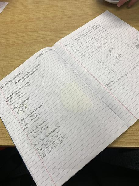Year 4 Writing up Their Fair Test