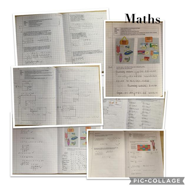 Year 5 have been working on their reasoning, percentage, area, perimeter and capacity