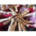 Year 4 made prayer bracelets