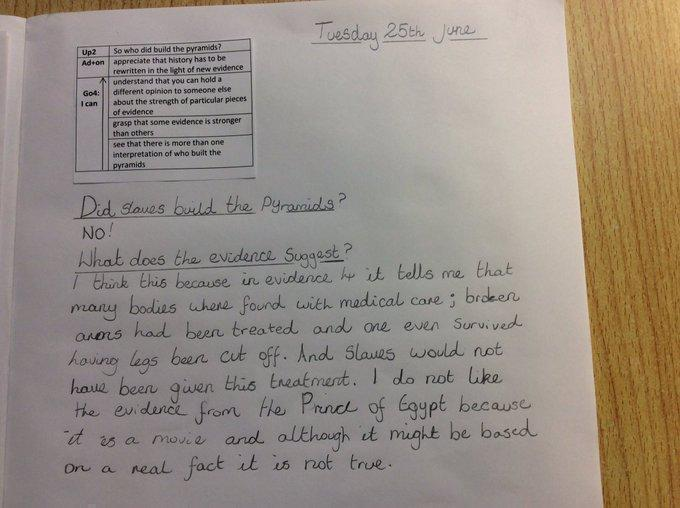 Who built the pyramids? Crosscurricular Y4 writing