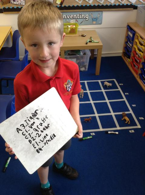 Y2 Practising writing co-ordinates to describe position