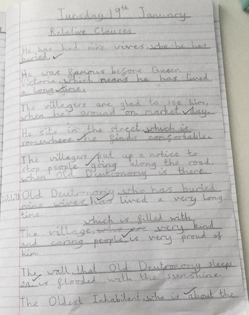 We learnt about relative clauses