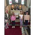 Y6 Singing at Whatton with the Bishop of Bolton