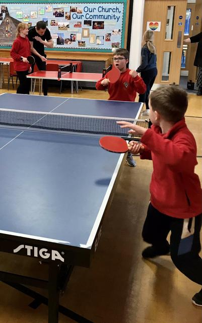 Friday afternoon Pingpong challenge - great fun!