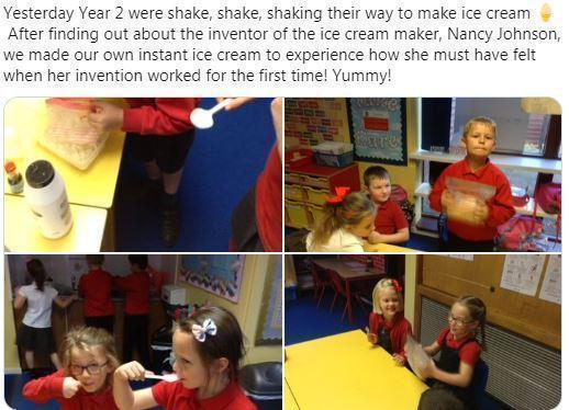 Y2 learning how to make icecream