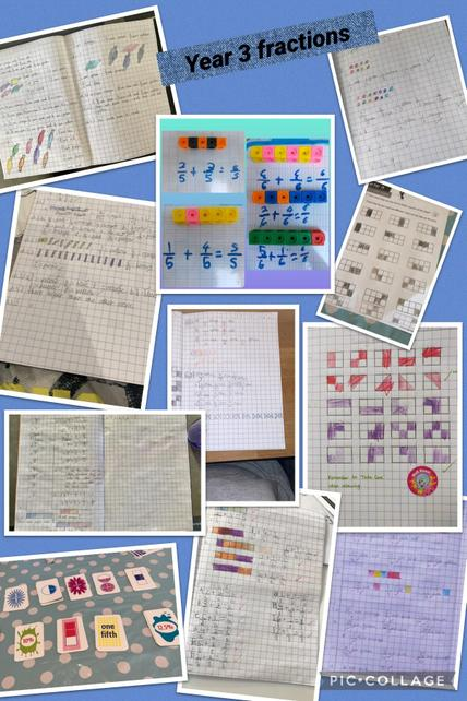 Finding fractions of amounts, adding fractions and solving fraction problems