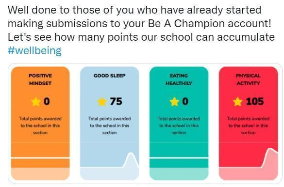 Our Be A Champion Account helps towards well-being