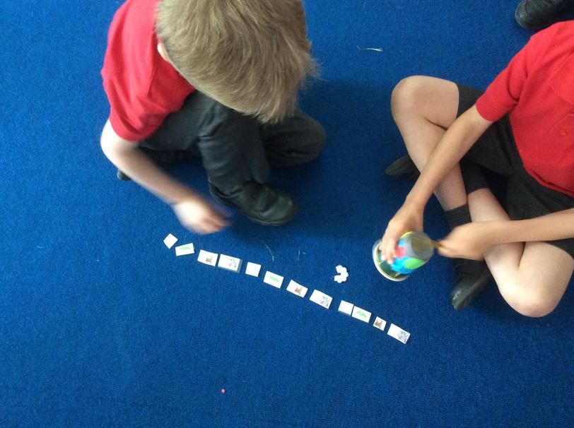 Then we used animals from the story to compose our own rhythm patterns