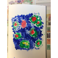 Y2 Experimenting with texture to create work inspired by Monet's Water Lilies