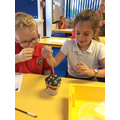 Incredible Inventors - Testing Waterproof Materials after learning about Charles Macintosh