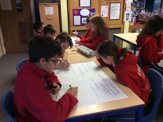 Y6 Journalists writing about plastic pollution