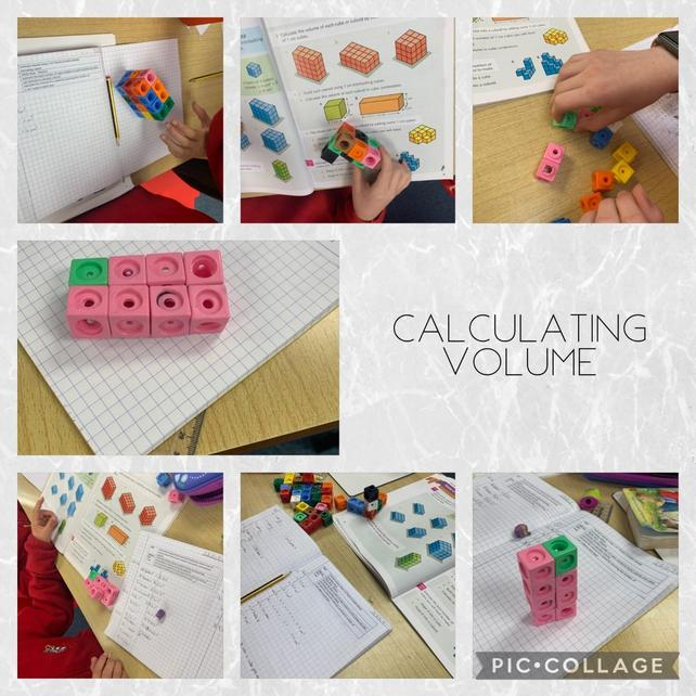 Year 5 are investigating volume of cubes and cuboids
