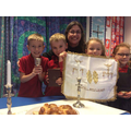 Shalom! Y1 baking bread, learning about Judaism