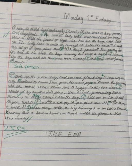 Writing a summary recount of The Promise