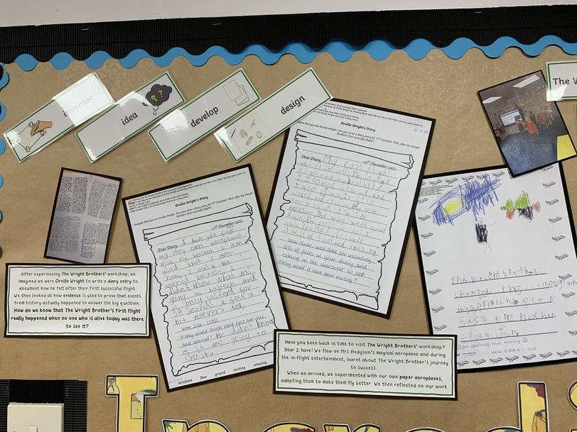 Y2 Cross-curricular writing - Diary Entries as Orville Wright (Autumn Term)