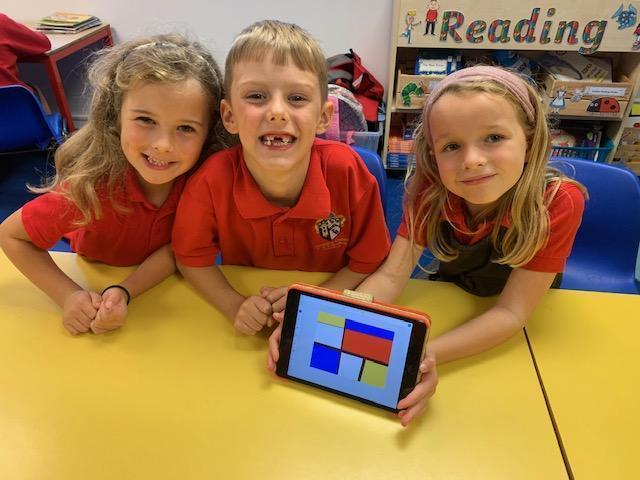Y1 Computer Art inspired by Mondrian