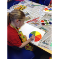 Y2 learning about the colour wheel