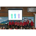 Our sports leaders take assembly