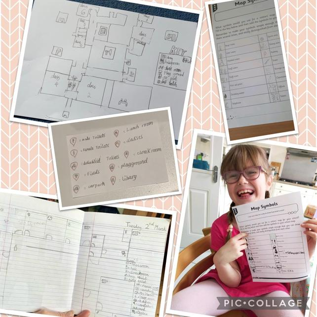 Using symbols and a key to produce maps of our school grounds