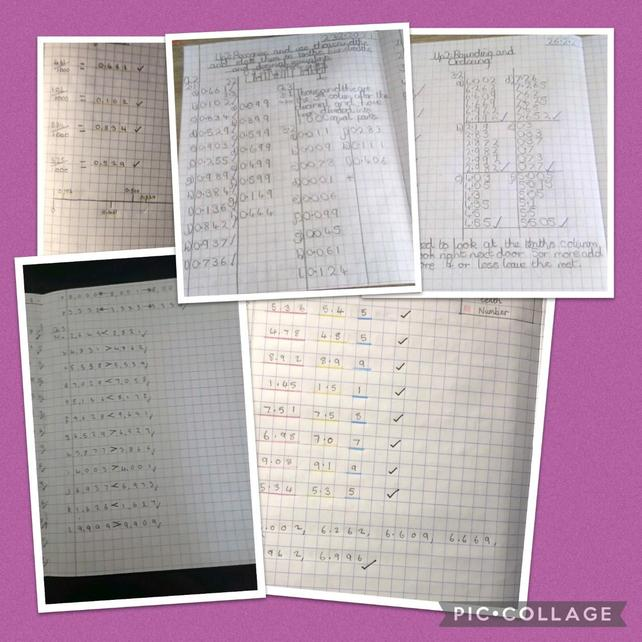 Year 5 recognising, ordering, rounding decimal thousandths and fraction equivalents