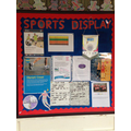 Check out our Sports Display in the main enterance
