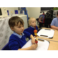 Making fruit kebabs - delicious!