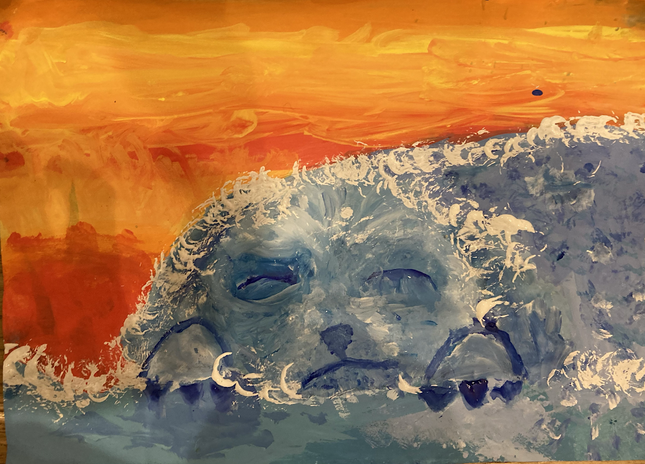 Inspired by the poem 'The Sea' by James Reeves