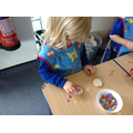 Decorating biscuits for our parents visit.
