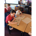 Creating Cave Paintings.