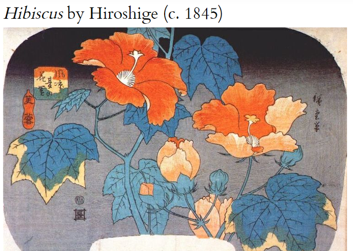 Hisbiscus by Hiroshige (1845)