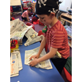 Making pirate hats!