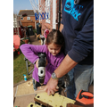 N.Q helping her Dad with some DIY!