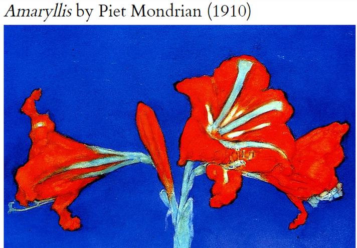 Amaryllis by Piet Mondrian (1910)