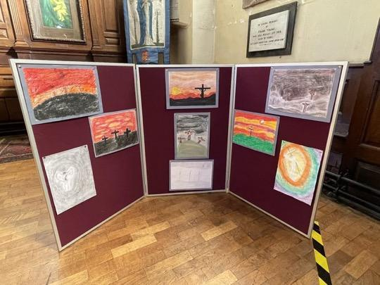 The church loved the artwork and it was celebrated throughout the week!