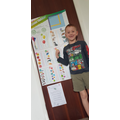 A and his new maths wall chart