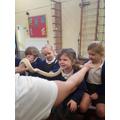 Keegan showing us his reptiles