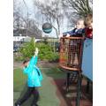 Developing our gross motor skills outside