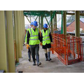 Mr Lacey, Mrs Shergill and Mr Flood on an inspection tour Nov 2006