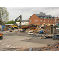 Phase 1 begins with the demolition of the Nursery and Soft Play huts - April 2006