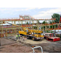 Steel frame in place for Library, Reception and Year 5 classes - August 2006
